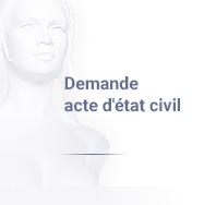 demande acte d'état civil