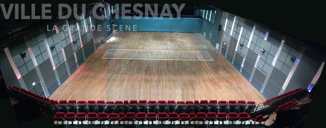 La grande Scène du Chesnay, à plat