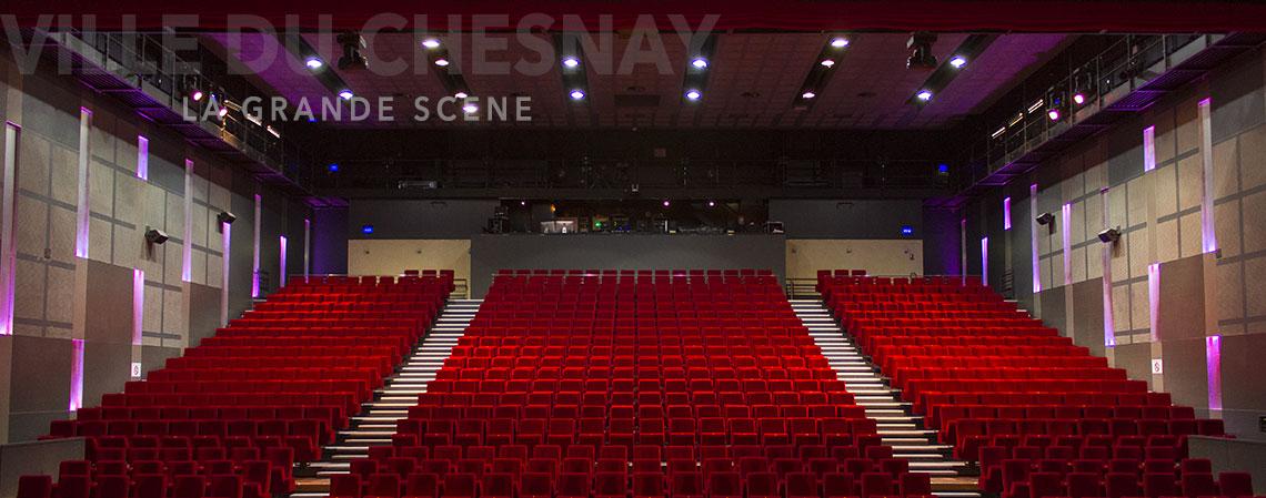 La grande Scène du Chesnay, vue de la scène