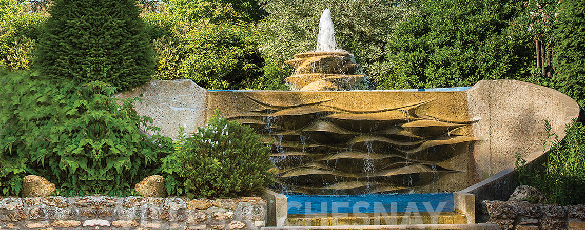 La fontaine des jardins Nouvelle-France