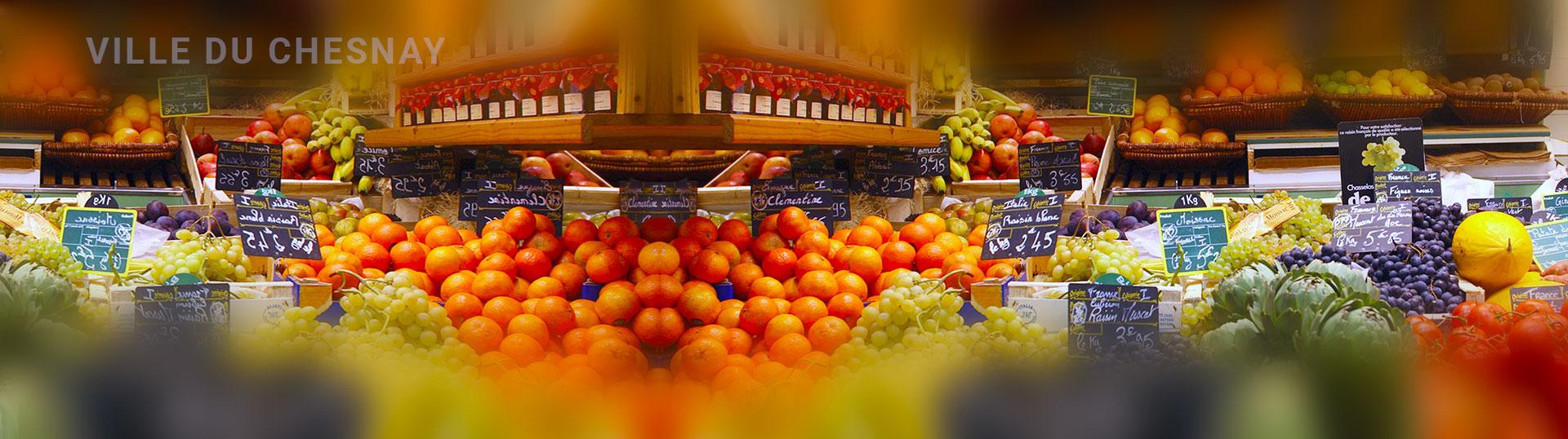 Le marché du Chesnay